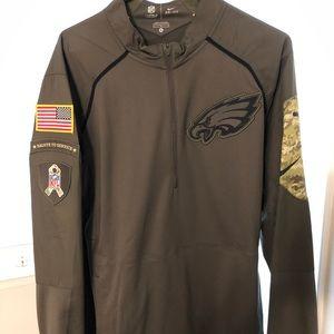 Eagles Salute To Service 1/2 ZIP Medium
